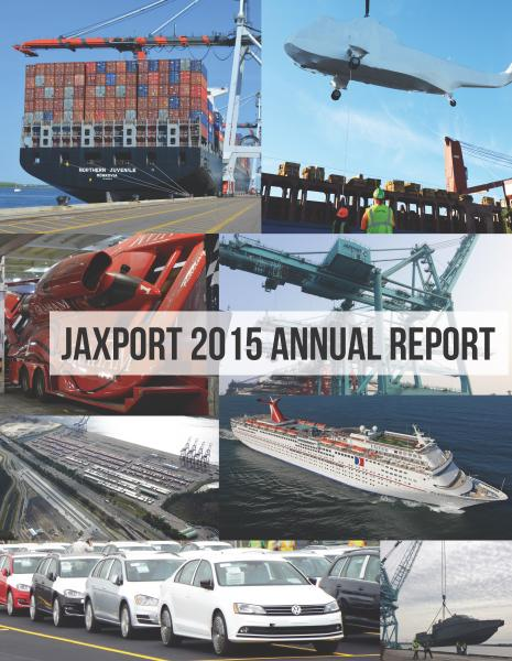 JAXPORT Annual Report, Jacksonville maintains its rank as Florida's number one container port