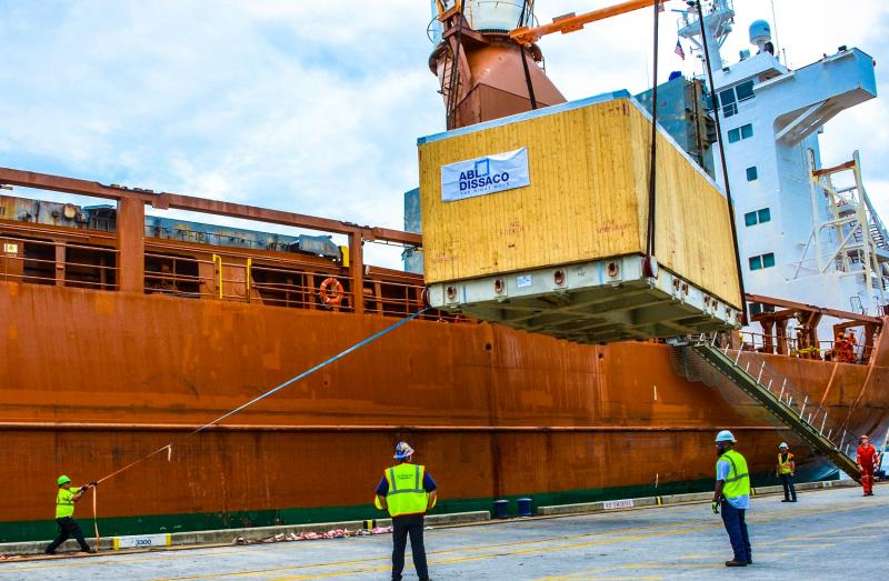 Highly trained stevedores recently moved state-of-the-art cancer treatment equipment worth $25 million through JAXPORT's Talleyrand Marine Terminal