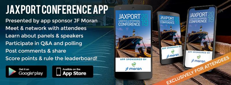 2019 JAXPORT Conference app on iOS and Android
