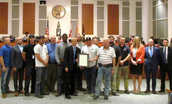 Jacksonville City Council recognizes JEA, JAA and JAXPORT for Puerto Rico relief partnership