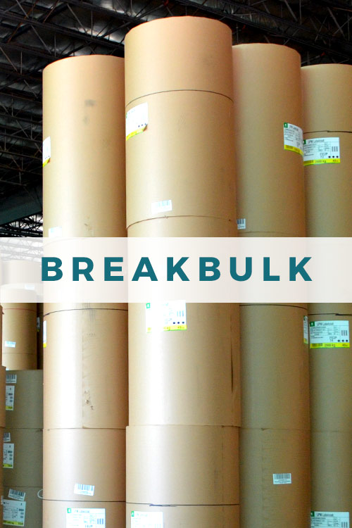 Breakbulk cargo at JAXPORT