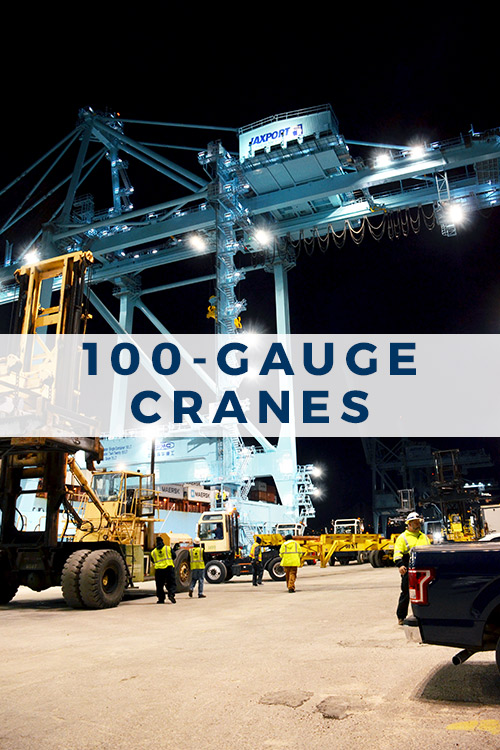 100-gauge cranes at JAXPORT