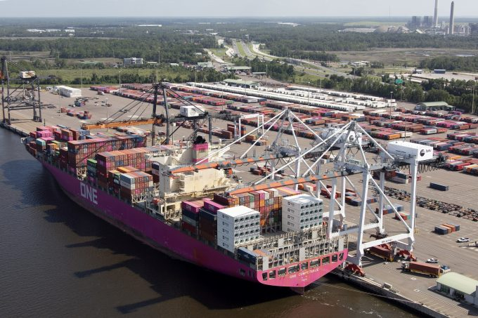 ONE ship at JAXPORT's Dames Point Marine Terminal