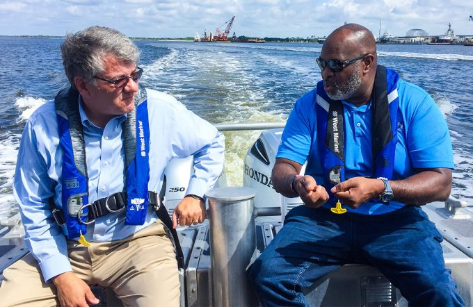 JAXPORT welcomes FDOT Secretary for waterside tour of port growth projects