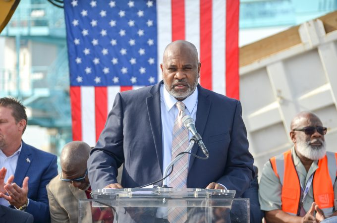 JAXPORT CEO Eric Green at the SSA Groundbreaking event in 2019.