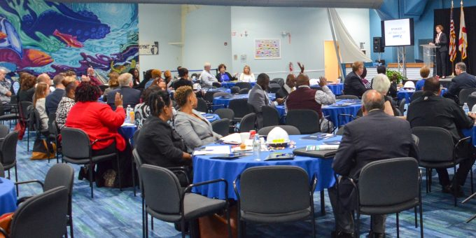 Participants listen during last year's JAXPORT Small Business Day