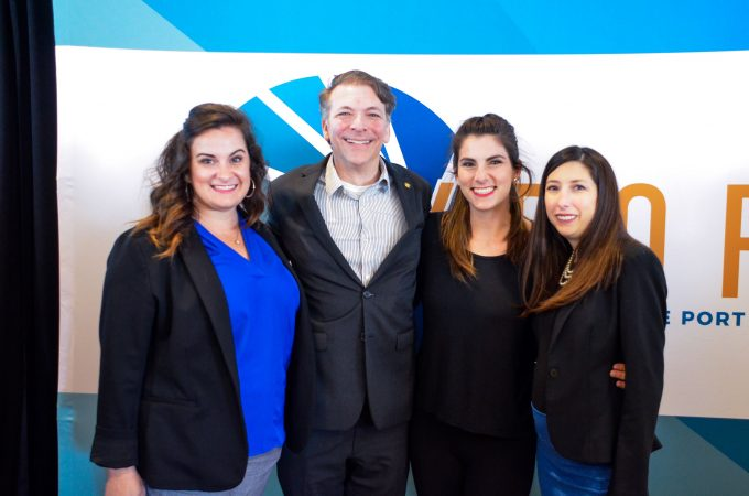 JAXPORT's marketing team during the logo unveiling in 2019