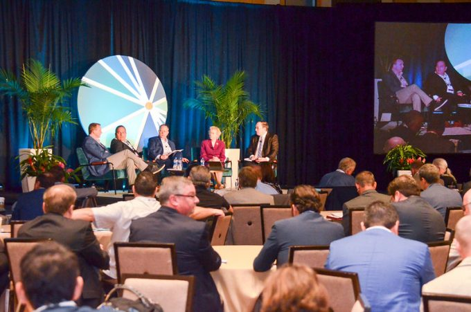 Panelist discuss industry topic at 2019 JAXPORT Conference