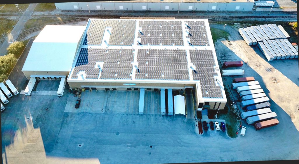 Aqua Gulf North Jacksonville facility powered by solar.
