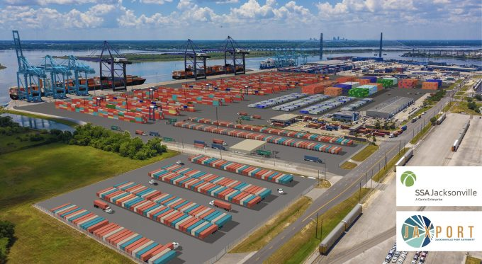 A rendering of the SSA Jacksonville Container Terminal at JAXPORT's Blount Island Marine Terminal