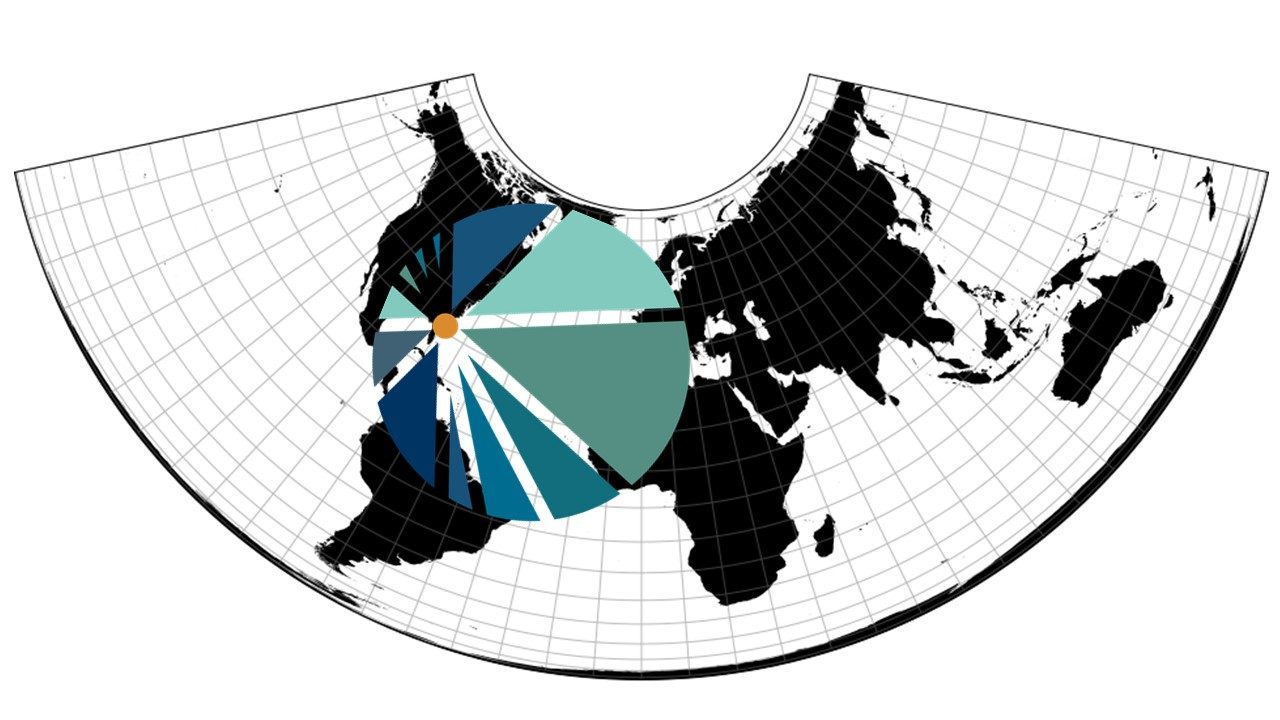 JAXPORT conic map projection